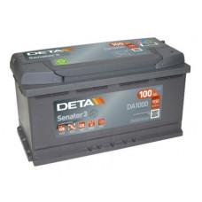 Akumulators 12V, 100 Ah, DETA SENATOR
