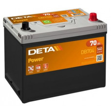 Akumulators 12V, 70Ah, DETA POWER