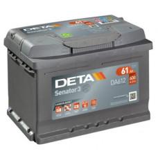 Akumulators 12V, 61Ah, DETA SENATOR