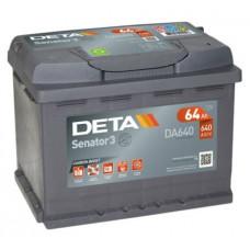 Akumulators 12V, 64Ah, DETA SENATOR