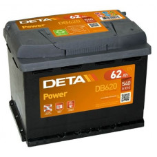 Akumulators 12V, 62Ah, DETA POWER