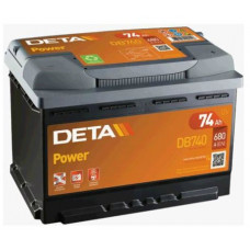 Akumulators 12V, 74Ah, DETA POWER